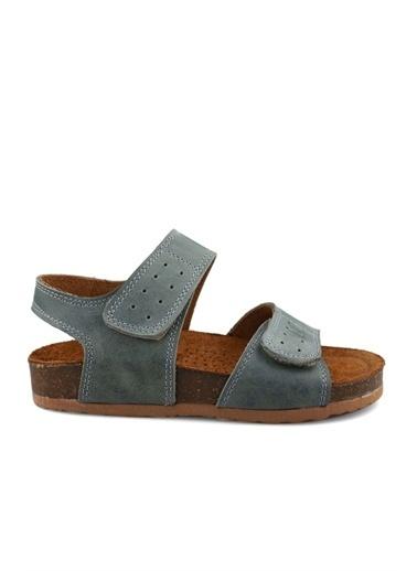 Cicibebe Deri Erkek Çocuk Sandalet Mavi